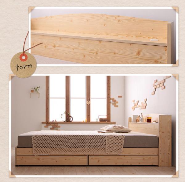 収納付きベッド【Sweet home】スイートホーム ヘッドボードと側面画像