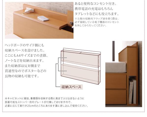 ヘッドボード側面収納スペース