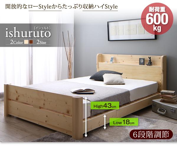 頑丈天然木すのこベッド【ishuruto】イシュルト