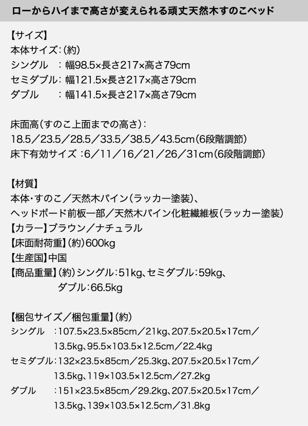 頑丈天然木すのこベッド【ishuruto】イシュルト詳細
