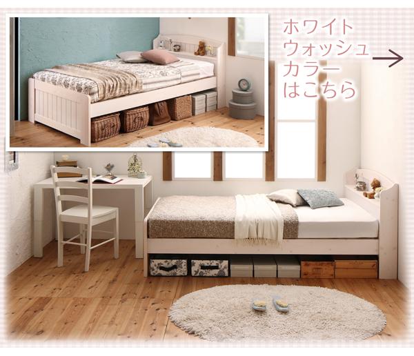 ショート丈高さ調節可能 すのこベッド【petit bunny】プチバニー