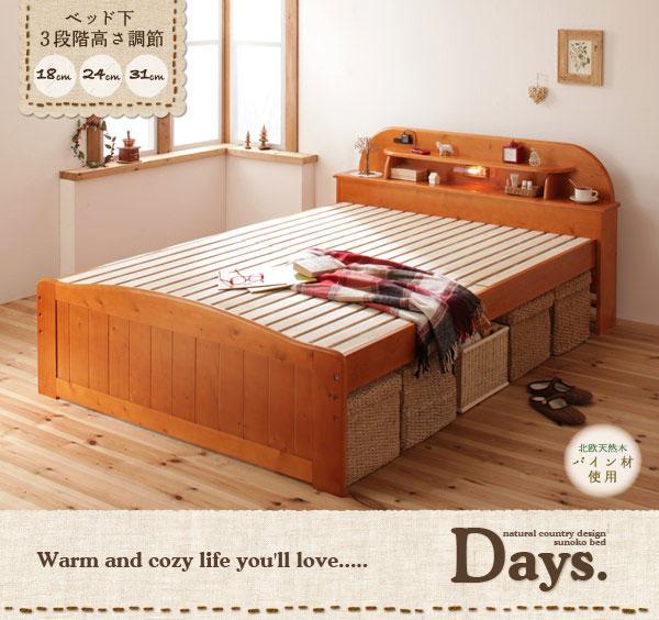 天然木すのこベッド【Days.】デイズ