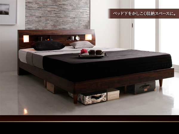ベッド下の賢い収納スペース