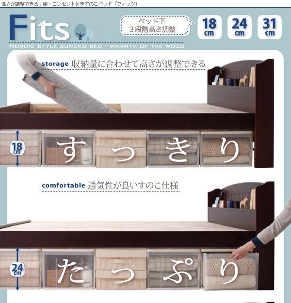 すのこベッド【Fits】フィッツ