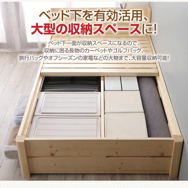 ベッド下を有効活用、大型の収納スペースに!